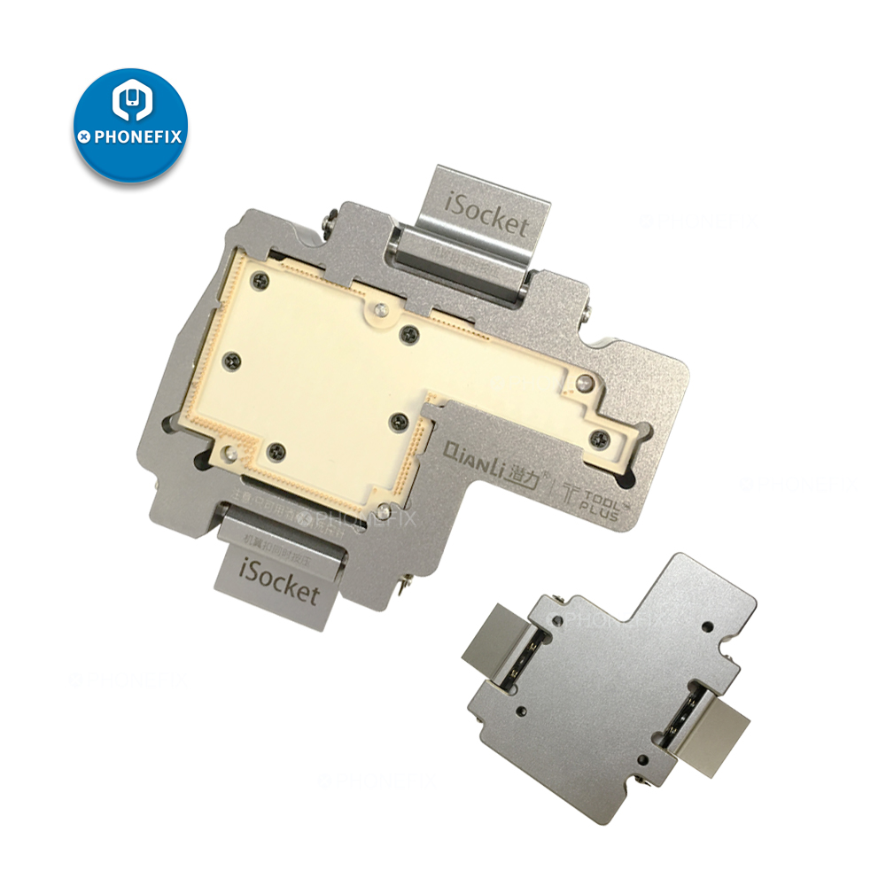 Qianli ISocket Jig phone motherboard Upper Lower Layers Logic Board Test Fixture for iphone X logic