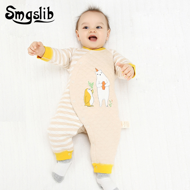 0-18 months Toddler Baby rompers winter Long Sleeve Cotton newborn baby boy girls jumpsuit Overalls Cartoon Infant Clothing