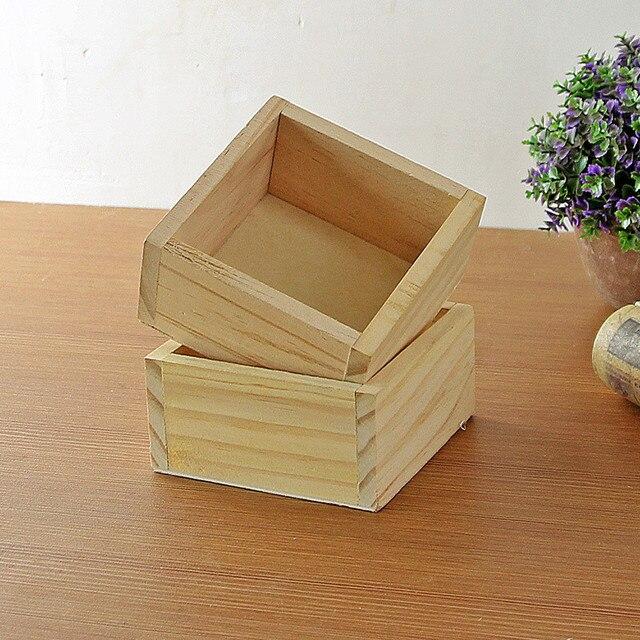 2PC Wooden Storage Box Decorative Vintage 12 L Gift Jewelry Box Wood Succulent Pot Supplies Holder & 2PC Wooden Storage Box Decorative Vintage 12 L Gift Jewelry Box Wood ...