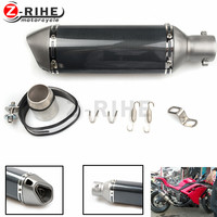 For Motorcycle Parts Exhaust Universal 36 51mm Modified Motorbike Exhaust Pipe Stainless Steel For Ducati 748