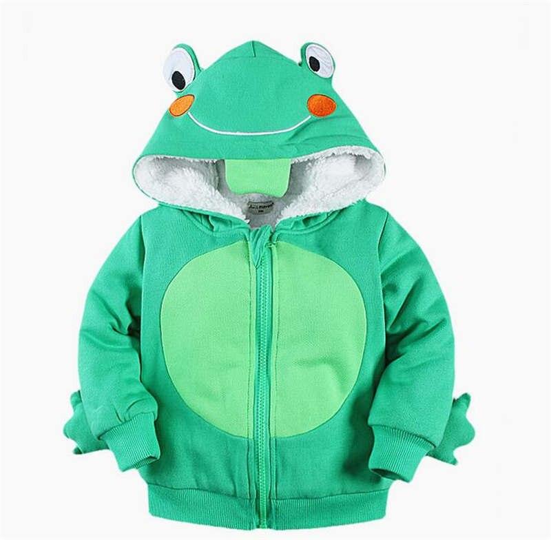 Cotton Cartoon Animal Print Girls Boys Thick Plush Coat Winter Jacket Outerwear Fleece Children Baby Infant Hooded Clothing михаил пухов лидер