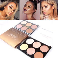 Miss Rose Brand Makeup Pressed Powder 6 Colors Bronzer And Highlighter Contour Palette Glow Kit Drop