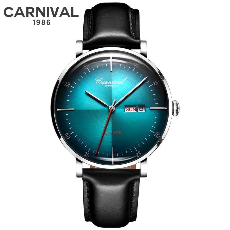 Carnaval mode hommes montres Top marque de luxe multifonction 24 heures calendrier étanche lumineux automatique mécanique montre