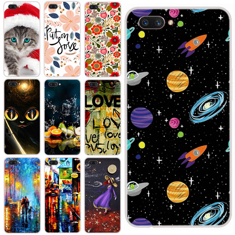 Oppo A3S Case For OPPO A5 AX5 Phone Cover Cute Cartoon 3D Patterned Back Covers Coque For OPPO A3S CPH1809 Cases Cat Tiger Skin