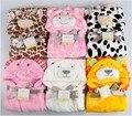 Venda Cobertor Do Bebê Swaddle Cobertores do bebê Recém-nascido Novo Animal Bonito forma Kid veste de Banho Com Capuz Toalha de Banho Manto Hold Neonatal Para ser