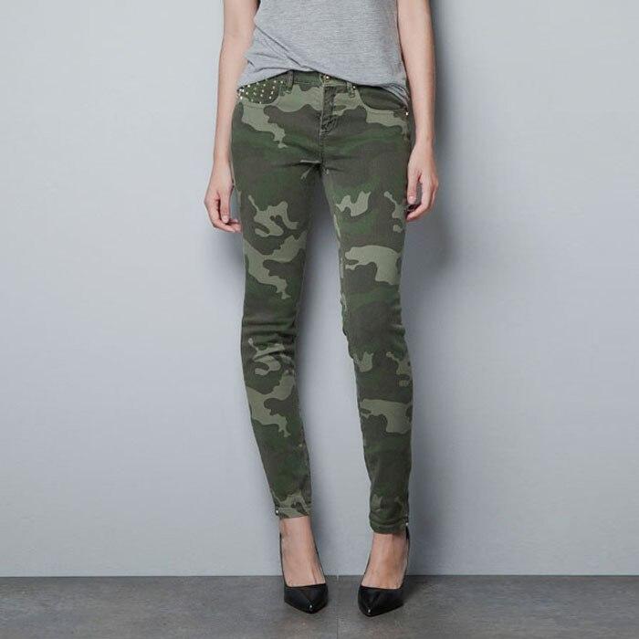 Hot New Fashion Autumn Summer Army Green High Waist Women -9601