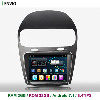 """Lenvio 8.4"""" IPS RAM 2G ROM 32G Android 7.1 CAR DVD GPS Navigation Player For Fiat Freemont 2012 2013 2014 Stereo Radio Quad Core"""