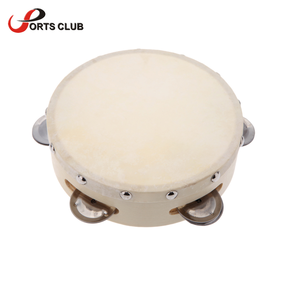 6in hand held tambourine drum bell metal jingles toy for ktv party kids games percussion musical. Black Bedroom Furniture Sets. Home Design Ideas