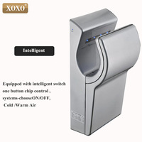 XOXO 1800W White Hand dryer Household Hotel Bathroom Hand Dryer Electric Automatic Induction Hands Drying Device X8013
