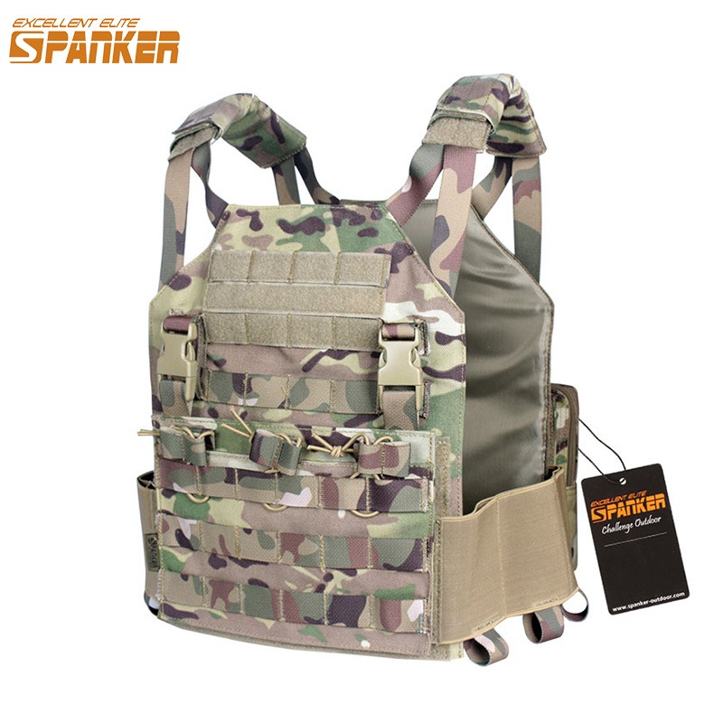 ECCELLENTE ELITE SPANKER Outdoor Military Vest Tactical Plate Carrier Army AMP Gilet M4 Accessorio Suit Caccia Gilet Impermeabili
