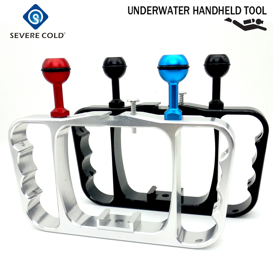 Severe Cold Scuba Underwater Photography Arm System Tray Bracket Handle Diving Flashlight Aluminum Alloy Camera Holder
