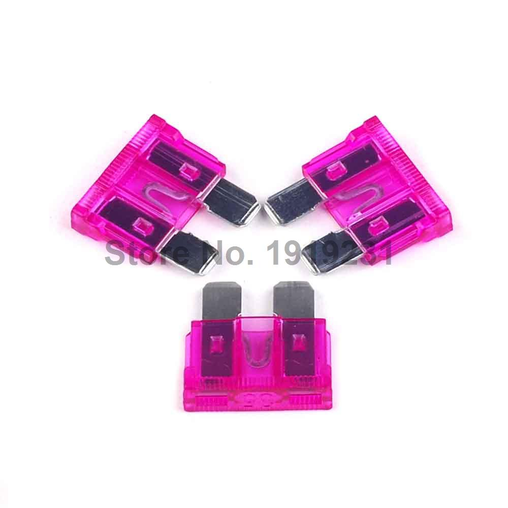 100pcs Medium Blade Car Fuses Automotive Fuse 35a A392 Clip Small Circuit Board Mount 5x20mm