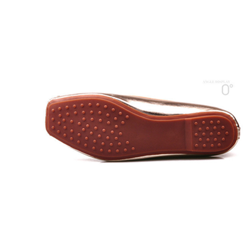 4815b59ffdc3 Jiasuer Gold Black Metal Summer Female Footwear Large Sizes 35 41 Square  Toe Fashion Women s Flat Shoes Leisure Ballerinas Flats-in Women s Flats  from Shoes ...