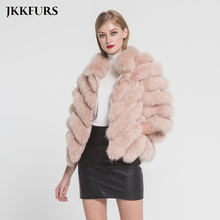 Womens Fur Jacket Real Fox Coat Spring Winter Warm Fashion Style 100% Natural Genuine Lady Outerwear S7369