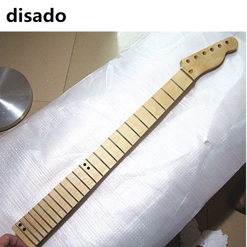 disado 24 Frets maple Electric Guitar Neck maple fretboard wood color glossy paint guitar parts accessories can be customized wilkinson guitar accessories st electric guitar three single coil pickup all colors can be customized real photos free shipping