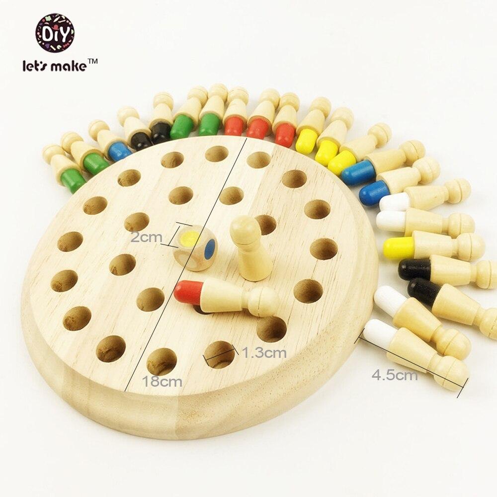Let's Make Drveni Montessori igračke Materijali bebe Drvene igračke - Izgradnja igračke - Foto 2