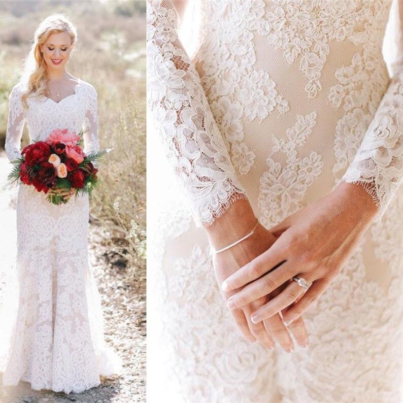 Wedding Gowns For Outdoor Weddings: Vestido De Noiva Boho Lace Wedding Dress 2019 Summer
