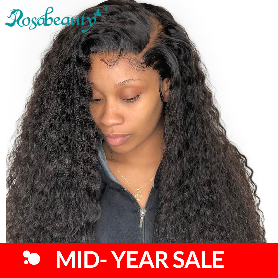 250 Density Curly 360 Lace Frontal Wig Pre Plucked With Baby Hair Human Hair Lace Front