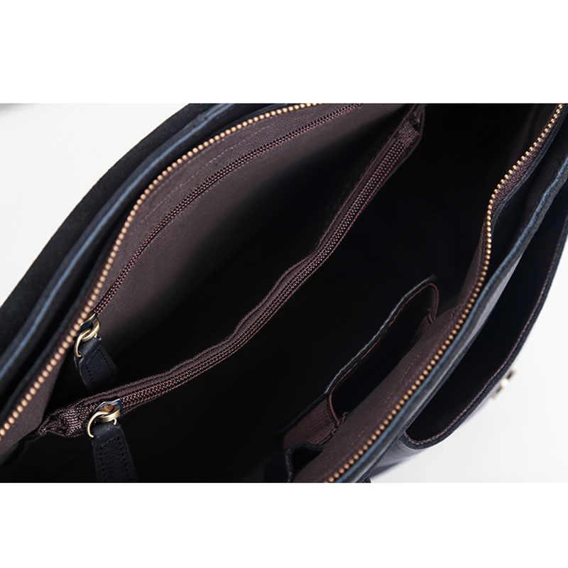 Aetoo a bolsa de couro masculina original bolsa de mão de couro masculino casual flip bolsa de ombro único seção transversal saco do carteiro