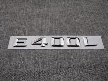 ABS Plastic Car Trunk Rear Letters Badge Emblem Decal Sticker for Mercedes Benz E Class E400L