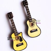 Кукольный домик Миниатюрный 1:12 аксессуары для кукол миниатюрный музыкальный инструмент деревянный цвет гитара 2 стиля Мода