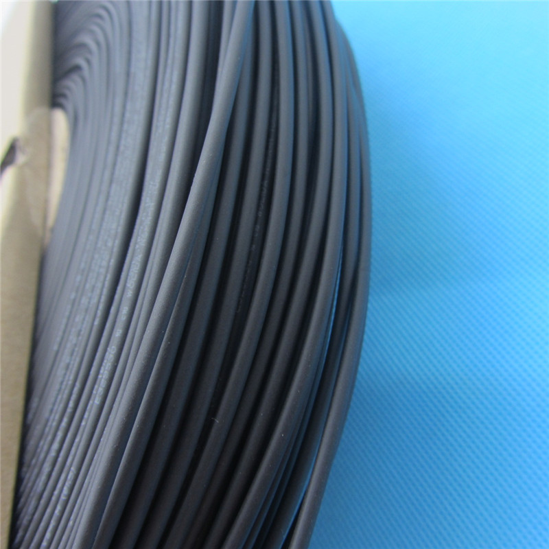 1m Heat Shrink Tube Black Wire Wrap Cable Insulation Sleeving Heatshrink Tubing 125 Celsius Kit Inner Diameter 1mm 1.0mm