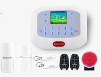 Touch Screen RFID Card PSTN/GSM Burglar Alarm System