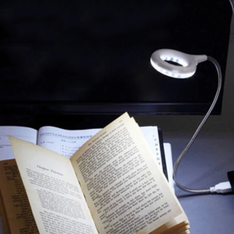 Mini USB LED Light 18 Super Bright LED Bulbs Book Light Portable Flexible Reading Lamp For Kindle Laptop Computer Bedside Lamp