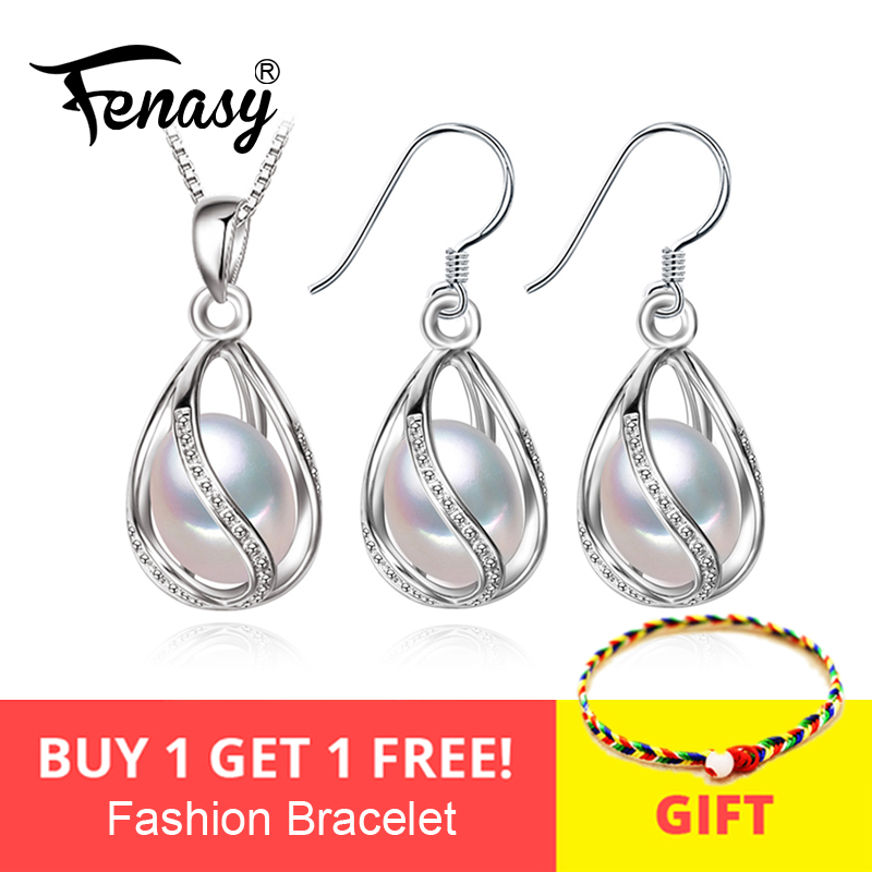FENASY flower Pearl Jewelry Set,natural Pearl Pendant Necklace and stud Earrings,Natural earrings for women,wedding jewelryFENASY flower Pearl Jewelry Set,natural Pearl Pendant Necklace and stud Earrings,Natural earrings for women,wedding jewelry
