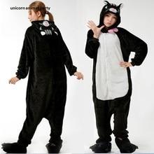 Winter Cartoon Comic Animal Panther Pajamas Kigurumi Adult Pyjamas Cosplay Costume Onesie Sleepwear Unisex Clothing halloween