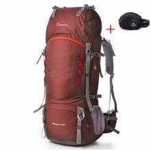 Groupe 80L En Plein Air Escalade Sac + 8L Taille Sacs pour Voyage Randonnée Camping