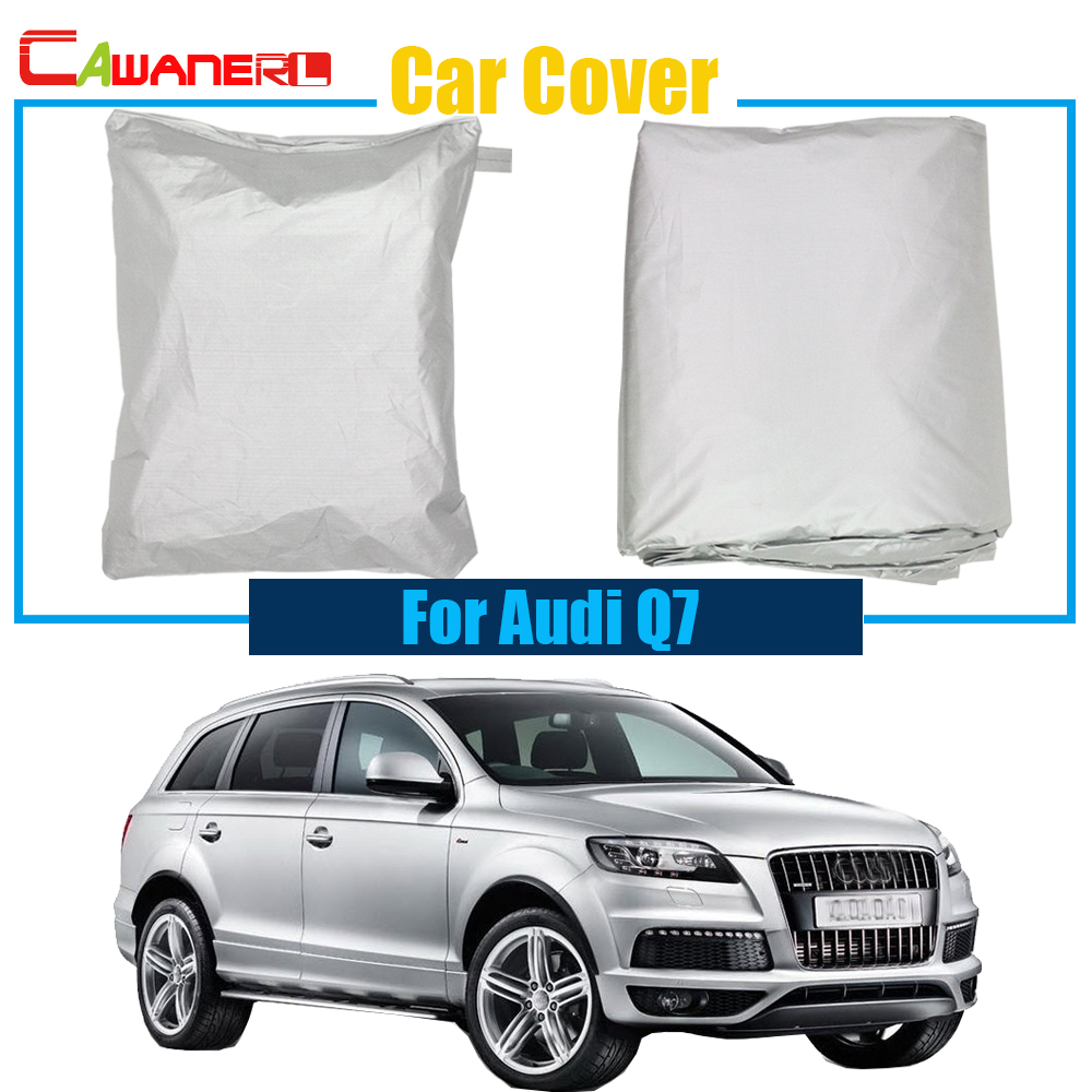 Cawanerl Free Shipping ! Car Anti UV Rain Snow Resistant Sun Shield Car Cover Dustproof For Audi Q7