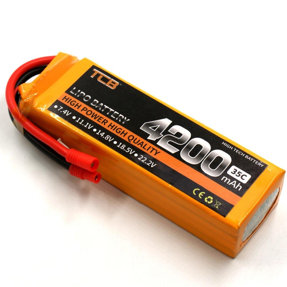 TCB LiPo font b Battery b font 18 5V 4200mAh 25C 5S T XT60 plug high