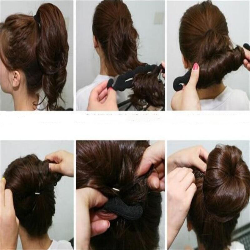 Hair Styling Magic Sponge donut Bun Curler Hairstyle Twist Maker Tool Roller Coiffure Hair Braider Styling Tools Bridesmaid