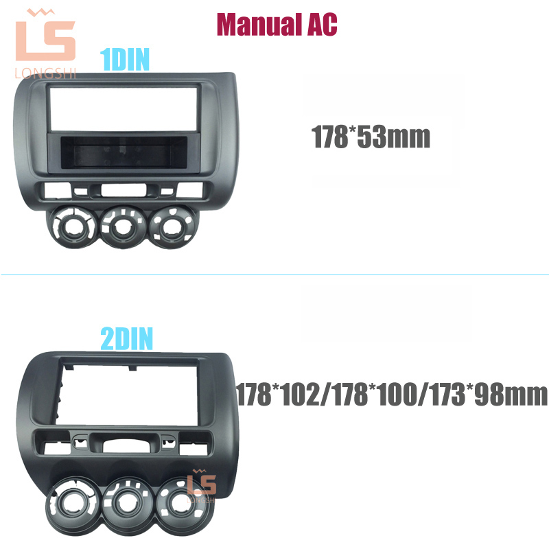 все цены на Car Radio Fascia for Honda Jazz 2002-2008 LHD One 2 Din Radio DVD Stereo CD Panel Mount Installation Trim Kit Frame Bezel , 2DIN онлайн