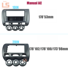 Car refitting DVD frame,DVD panel,Dash Kit,Fascia,Radio Frame for 2006 Honda Jazz (Aircon Manual for driver in the left ), 2DIN цена