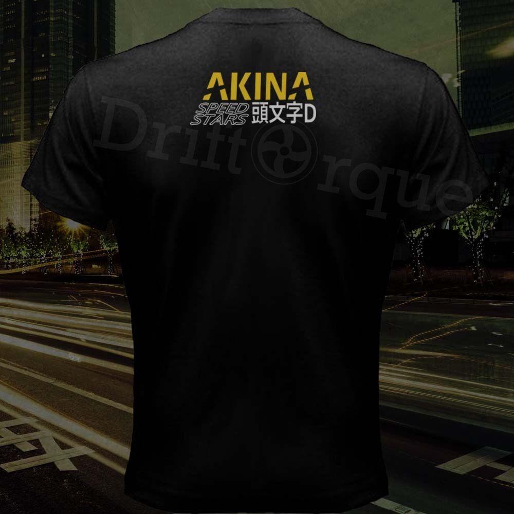 2019 Fashion Double Side Takumi Fujiwara Tofu Shop Emblem Ae86 Initial D Akina Speed Star Drift T-Shirt Unisex Tee