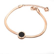 2017 Fashion European Black Snake Chain Bracelet Brand Carter Bracelet Female Rose Gold Color Bracelet Charms Love Jewelry