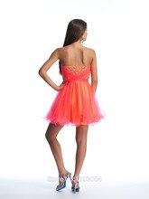 2015 a-line liebsten orange oganza perlen backless short mini homecoming kleider unter 30 cocktailkleider