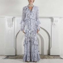 Female Spring Fashion V Neck Patchwork Sequins Tassel Maxi Dress Women Flare Sleeve Ruffle Party Dress sheer v neck flare sleeve maxi dress