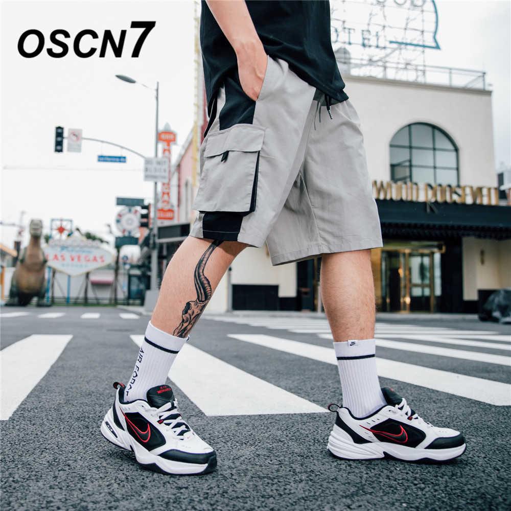 OSCN7 повседневные Хип Хоп Уличная печать свободные мужские шорты Карго 2019 летние модные высокие уличные Бермуды мужские шорты 513