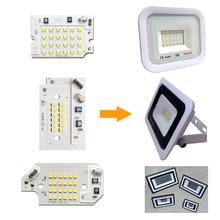 LED Chip DIY LED floodlight Lamp SMD 100W 50W 30W 20W 10W AC220V Smart IC For outdoor spotlight Cold White все цены
