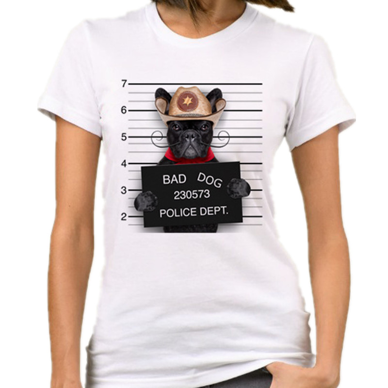 Women Funny Letter Printing Casual T Shirt 30