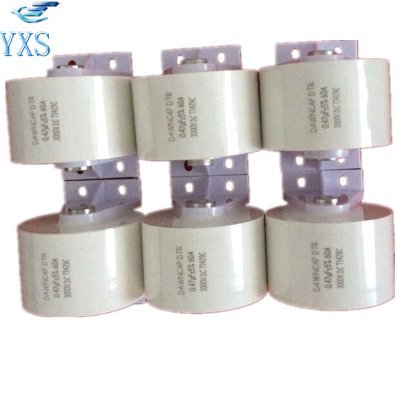 MKPH-R 3000VDC 60A Super Farah High Frequency Resonant Capacitor 0.22UF 0.25UF 0.44UF 0.5UF dtr series 2uf 1200vac 2500vdc high frequency high voltage ac resonant capacitor 80a