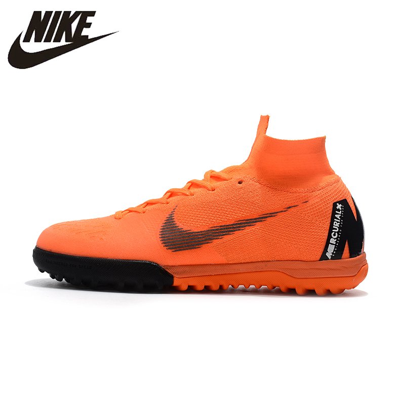 2ff01febffb NIKE SUPERFLYX6 ELITE TF Men Outdoor Firm Ground Football Boots Durable  Ankle Top Soccer Cleats AH7374