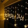 Ktv бар креативная лампа для гостиной  балкона  декоративные светильники  светодиодные звезды  занавески из лун  гирлянда  длина 3 м  высота 1 1 ...