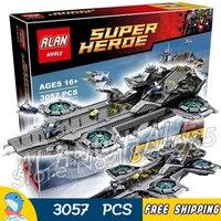 3057 шт. Super Heroes Мстители щит helicarrier авианосец 07043 модель строительные блоки игрушка кирпич Совместимость с Lego