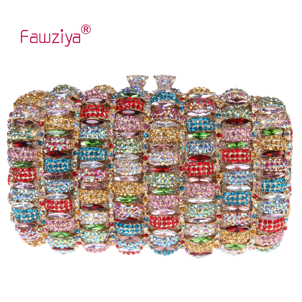 Fawziya Clutch Bag Design Kiss Lock Clutch Box Purses Rhinestone Evening Bag fawziya apple clutch purses for women rhinestone clutch evening bag