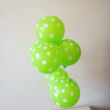 Polka Dot Fruit Green Balloons 50pcs/lot 12Inch 2.8g anniversaire Latex Balloon Wedding Decoration globos Birthday decoration