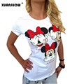 Women Mickey T shirt Summer Super Cute Cartoon Shirts Comfortable Casual tops